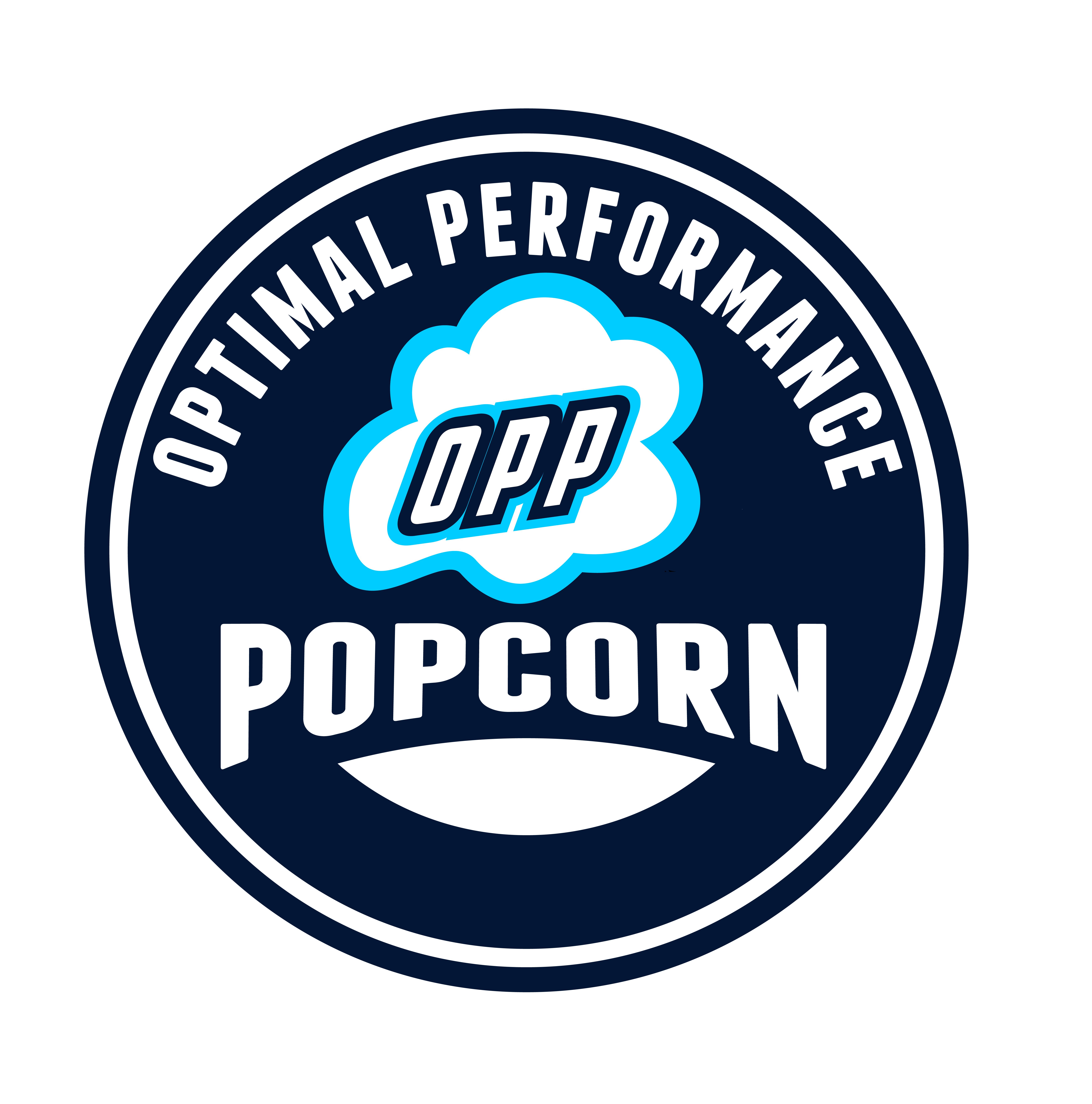 Logo-Design-Services-Example-By-Stable-Gray-For-Rexius-Nutritions-Private-Label-Workout-Popcorn-Called-Optimal Performance Popcorn